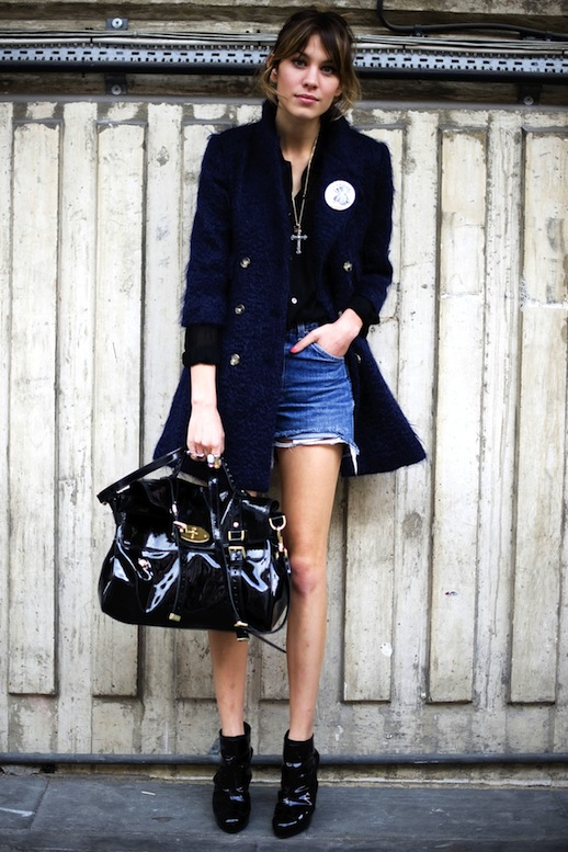 16-Le-Fashion-Blog-40-Of-Alexa-Chung-Best-Looks-With-Denim-Shorts-Navy-coat-Cross-Necklace-Mulberry-Bag-Ankle-Boots-Via-Refinery29
