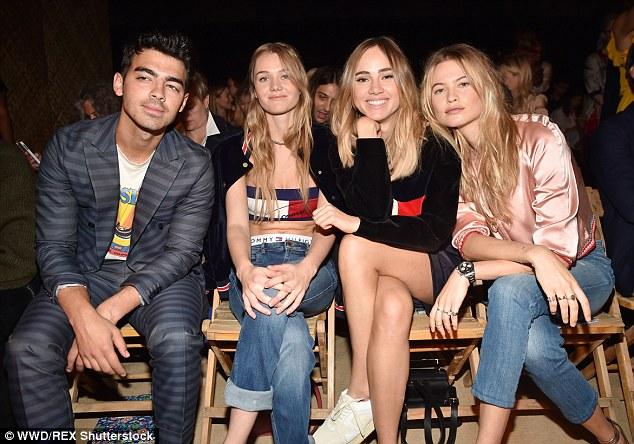 Joe Jonas, Suki and Immy Waterhouse and Behati Prinsloo.