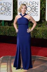 Kate Winslet: vestido de Ralph Lauren Collection, joyas de Neil Lane y zapatos de Jimmy Choo